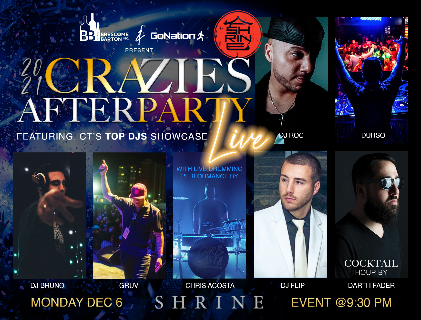 craziesawards after party at Shrine Foxwoods